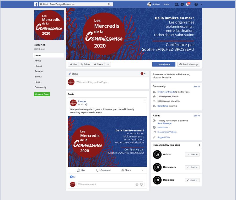 Facebook-Page-Mockup-bannier-Mercredis-de-la-connaissance