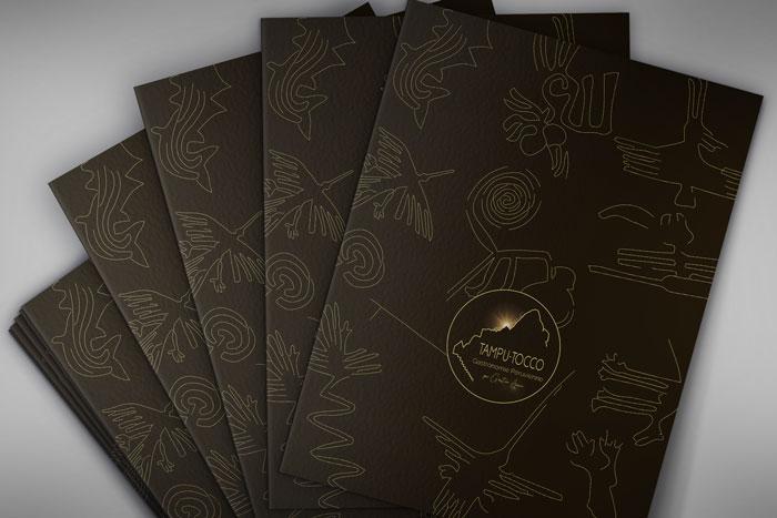 Menu restaurant Tampu Tocco création identité de marque