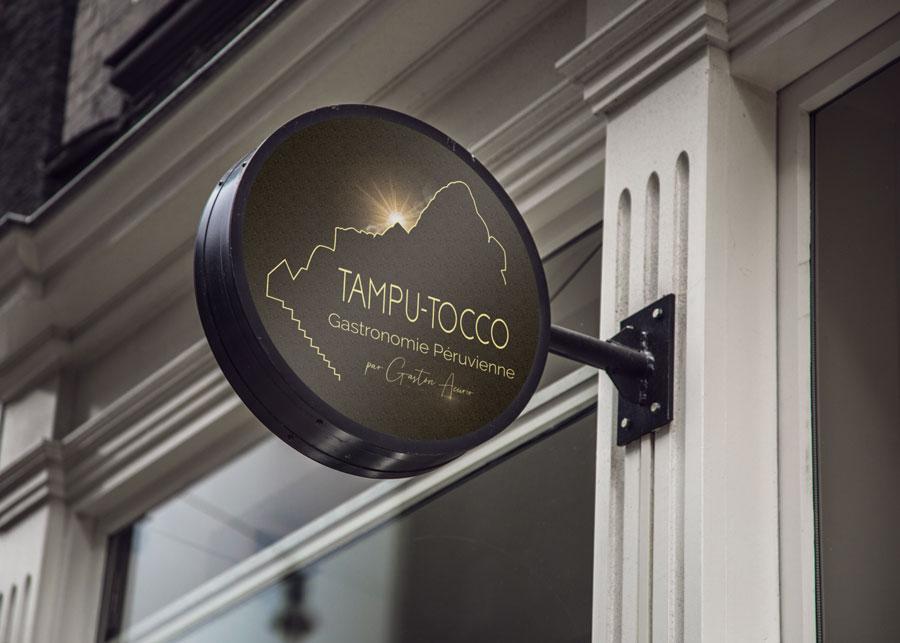 Signaletique-restaurant TampuTocco-création identité visuelle