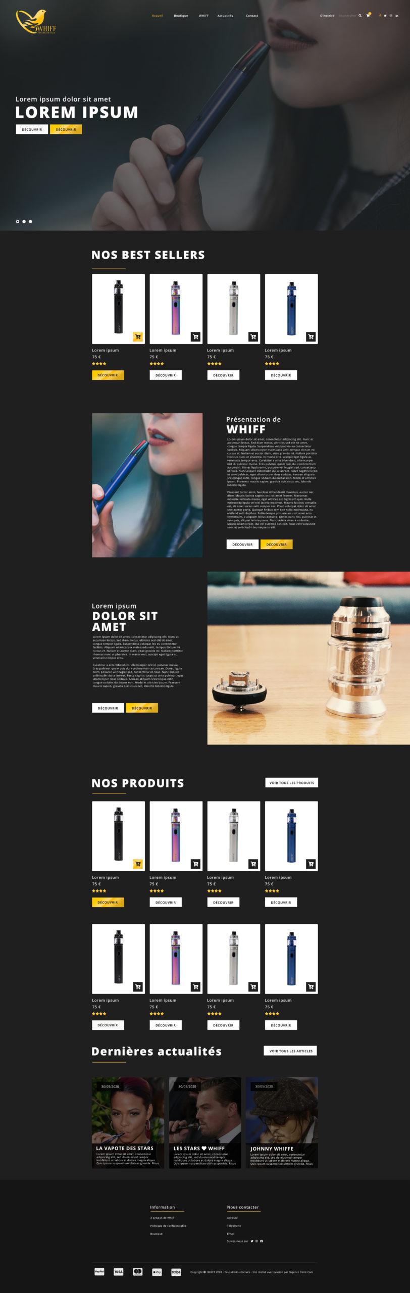 MAQUETTE-WEB-DESIGN-WHIFF-PAGE-ACCUEIL