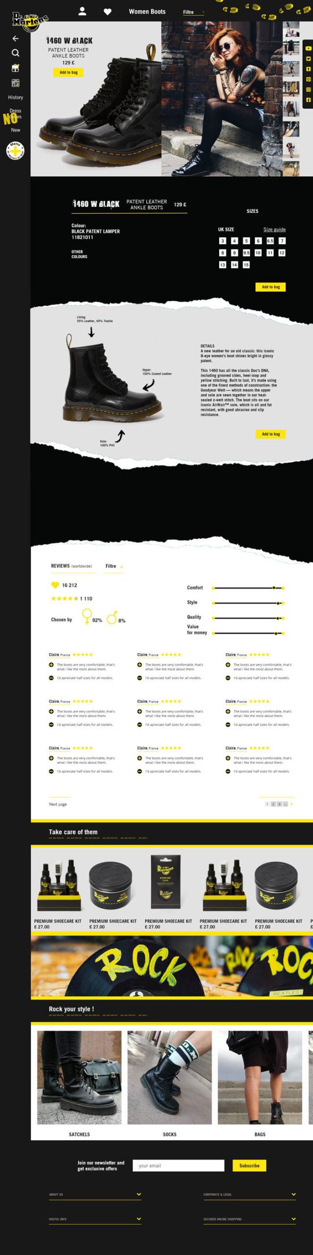 page-produit-Dr-Martens-refonte-de-site